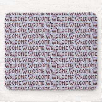 Welcome Letters Pattern Mouse Pad