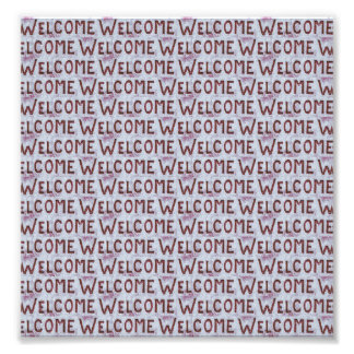 Welcome Letters Pattern Photo Print