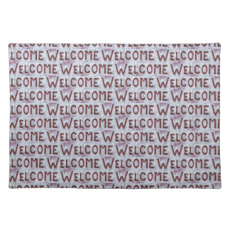 Welcome Letters Pattern Placemat