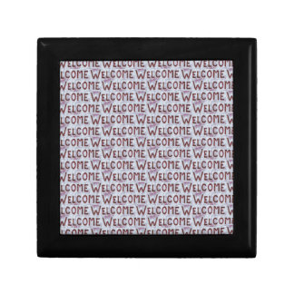 Welcome Letters Pattern Small Square Gift Box