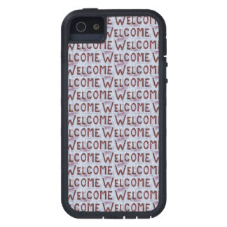 Welcome Letters Pattern Tough Xtreme iPhone 5 Case