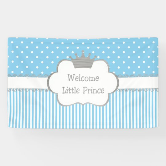 Welcome Little Prince Banner - Baby shower