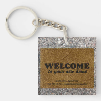 Welcome  Mat Key Ring