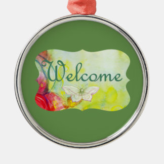 Welcome! Metal Ornament