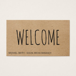 Welcome  | Natural Texture Business Card