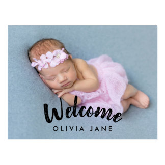 Welcome New Baby | Birth Announcement Postcard