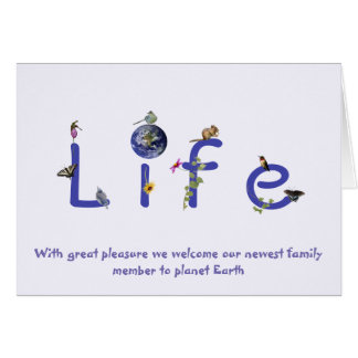 Welcome Newest Family Member to Planet Earth Card