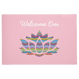 Welcome Om Pink Welcome Mat