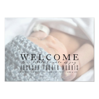 Welcome Our Bundle Of Joy | Baby Announcement