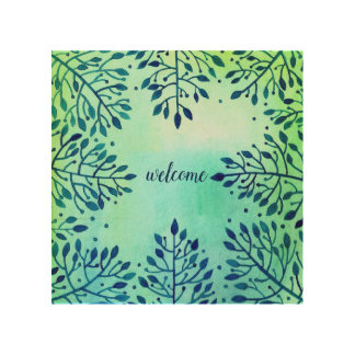 welcome painting wood wall art