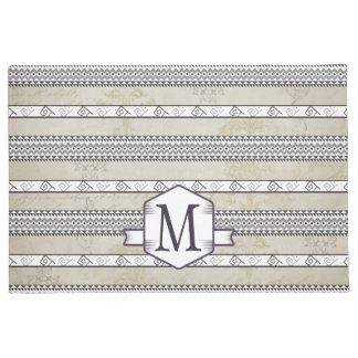 Welcome Personalized Monogram Vintage Floral Doormat
