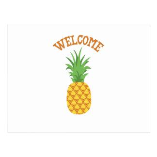 Welcome Pineapple Postcard