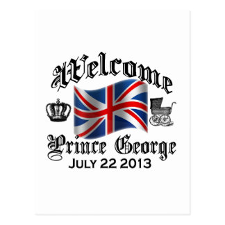 Welcome Prince George July 22 Postcard