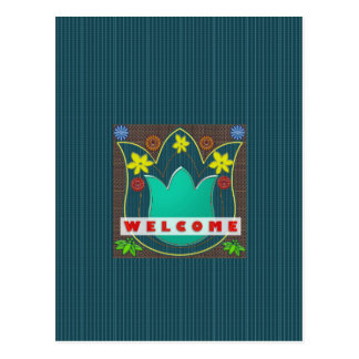 WELCOME Reception Event Management GIFTS Dress Postcard