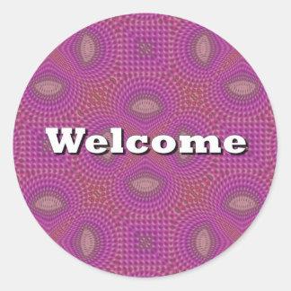 Welcome Round Sticker