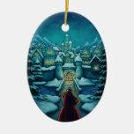 welcome santa holiday ornaments