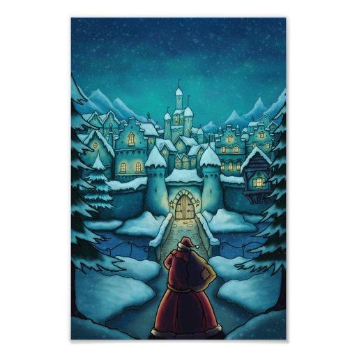 welcome santa holiday photo print