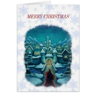 welcome santa note card. card