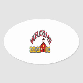 welcome school house music stickers