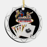 Welcome Sign Black Poker Chip Ornaments