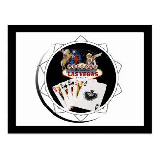 Welcome Sign Black Poker Chip Postcard