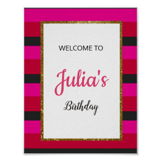 Welcome Sign Board for Birthday/Bridal Shower