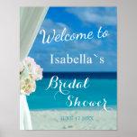 Welcome Sign | Ocean Beach Summer Bridal Shower