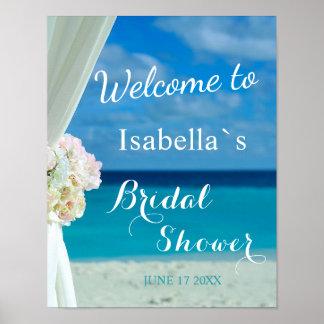 Welcome Sign   Ocean Beach Summer Bridal Shower