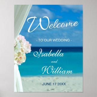 Welcome Sign   Ocean Beach Summer Wedding
