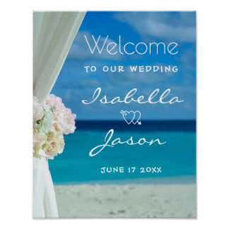 Welcome Sign | Ocean Beach Summer Wedding Poster