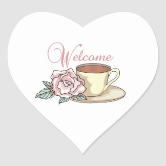 WELCOME HEART STICKERS