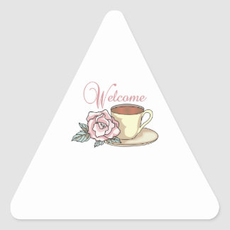 WELCOME TRIANGLE STICKERS