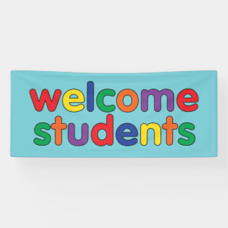 Welcome Students colorful school Banner