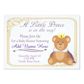 Welcome The Little Prince 13 Cm X 18 Cm Invitation Card