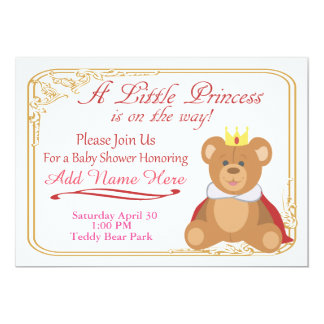 Welcome The Little Princess 13 Cm X 18 Cm Invitation Card