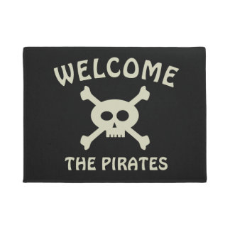 Welcome the Pirates Door Mat