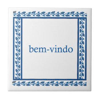 welcome tile expressed in portuguese (bem vindo)