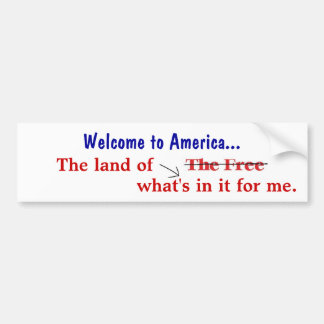 Welcome to America Bumper Sticker