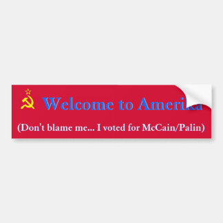 Welcome to Amerika Bumper Sticker