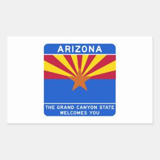 Welcome to Arizona - USA Road Sign Rectangular Stickers