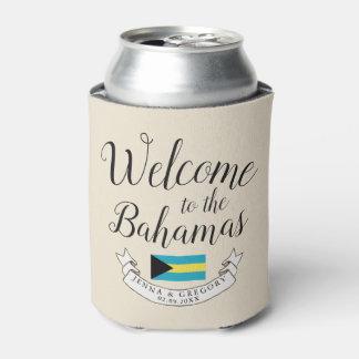 Welcome to Bahamas | Destination Wedding Custom Can Cooler