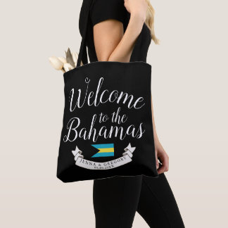 Welcome to Bahamas | Destination Wedding Custom Tote Bag