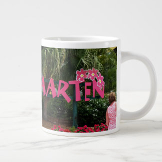 Welcome to Beautiful St. Maarten in the  Caribbean Large Coffee Mug