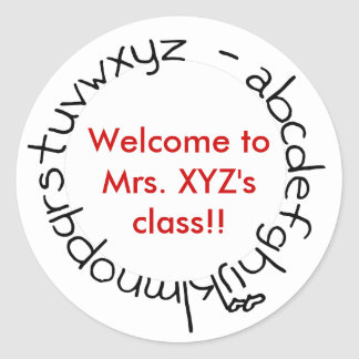 Welcome to class! sticker