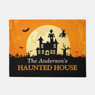 Welcome to Creepy Haunted House Happy Halloween Doormat