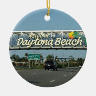 Welcome to Daytona Beach Ceramic Ornament