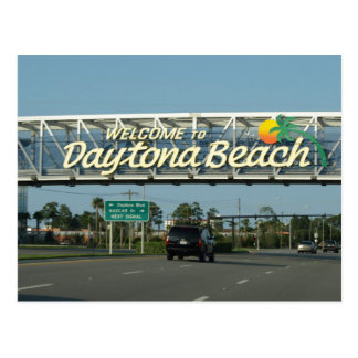 Welcome to Daytona Beach Postcard