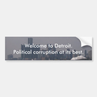 Welcome to Detroit Bumper Sticker