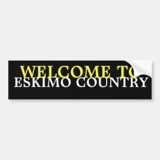 WELCOME TO ESKIMO CAR BUMPER STICKER