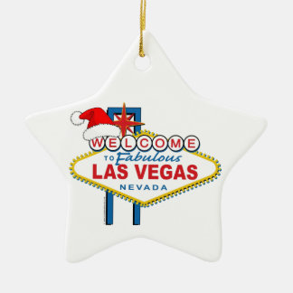 Welcome to Fabulous Las Vegas Christmas Ceramic Ornament